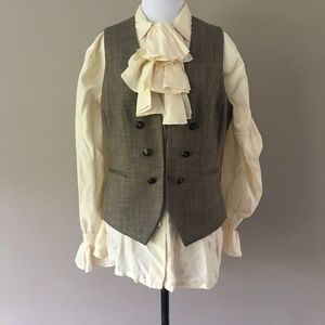 Steampunk Double Breasted Vest Size 10